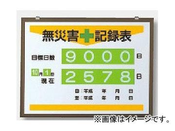 ユニット/UNIT 無災害記録表(日数) 品番:867-17