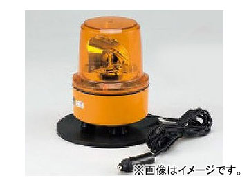 ユニット/UNIT 車載用中型パワーLED回転灯 DC48V 黄 マグネット付 品番:883-11