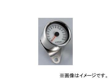 2輪 POSH Faith LEDバックライトタコメーターステッピン(電気式タコメーター) ミニショートボディ/ホワイトパネル 000117-90