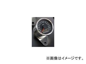 2輪 POSH Faith LEDバックライトミニスピードメーターステッピン ブラックパネル 000014-96