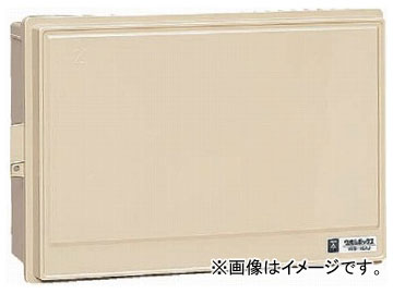 未来工業/MIRAI 屋外電力用仮設ボックス(漏電遮断器・分岐ブレーカ・コンセント内蔵) 30mA 15-6C4 ベージュ 350×531mm