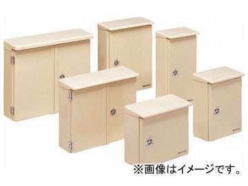 未来工業/MIRAI 強化ボックス(FRP樹脂製防雨常設ボックス) 屋根付(タテ型) 片開き FB-6535YJ ベージュ 680×357mm
