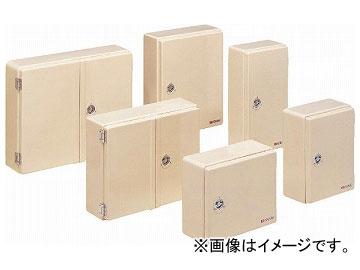 未来工業/MIRAI 強化ボックス(FRP樹脂製防雨常設ボックス) 屋根無(ヨコ型) 両開き FB-5265NJ ベージュ 520×650mm