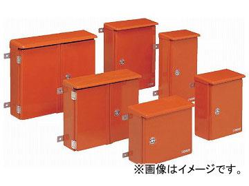 未来工業/MIRAI 強化ボックス(FRP樹脂製防雨常設ボックス) 屋根付・取付ステー付(タテ型) 片開き FB-6552Y オレンジ 680×528mm