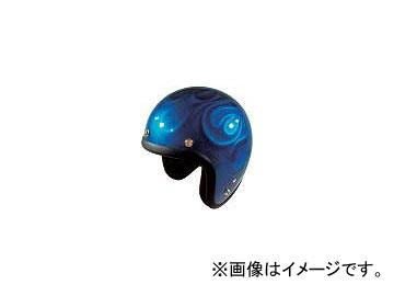 2輪 72ジャムジェット ヘルメット GHOST FLAME JG-シリーズ P039-5202 ブルー
