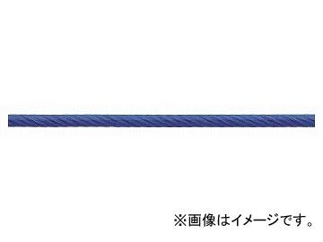 ニッサチェイン/NISSA CHAIN 鉄ワイヤーロープビニコートタイプ リール巻 青 100m巻 R-IY80V JAN:4968462158133