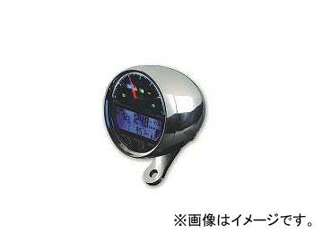 2輪 エースウェル デジタルメーター ACE-4000シリーズ P043-1913 メッキ 回転数:6000rpm