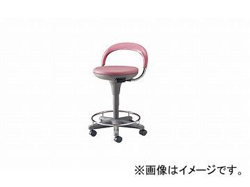 ナイキ/NAIKI 丸イス 病院用 ワイン E232-WI 510×425×540~845mm