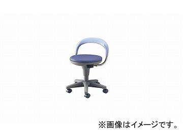 ナイキ/NAIKI 丸イス 病院用 ブルー E231-BL 510×425×400~720mm