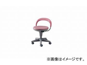 ナイキ/NAIKI 丸イス 病院用 ワイン E231-WI 510×425×400~720mm