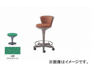 ナイキ/NAIKI 丸イス 病院用 ライトグリーン E759F-LGR 510×510×660~835mm