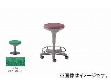 ナイキ/NAIKI 丸イス 病院用 ライトグリーン E758F-LGR 510×510×450~625mm
