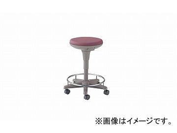 ナイキ/NAIKI 丸イス 病院用 ダークワイン E758-DW 510×510×450~625mm