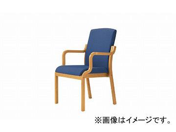 ナイキ/NAIKI 木製チェアー ハイバック ブルー E277-BL 540×605×895mm