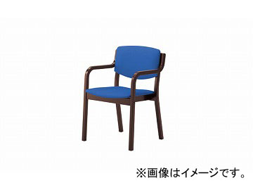 ナイキ/NAIKI 木製チェアー 4本脚タイプ ライトブルー E205BR-LBL 530×510×790mm
