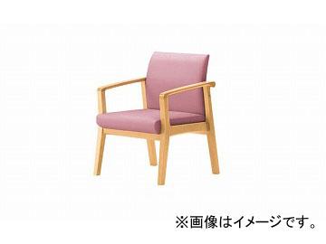 ナイキ/NAIKI ロビーチェアー ローバック ピンク RC1241S-PI 600×600×790mm