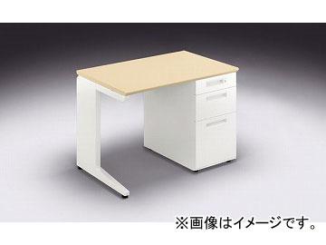 ナイキ/NAIKI リンカー/LINKER カスティーノ 片袖デスク Sタイプ シルクウッド/クリアーホワイト CND106B-WS 1000×650×700mm