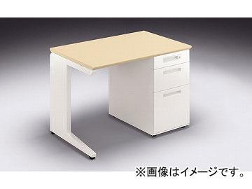 ナイキ/NAIKI リンカー/LINKER カスティーノ 片袖デスク Sタイプ シルクウッド/ホワイト CND106B-HS 1000×650×700mm
