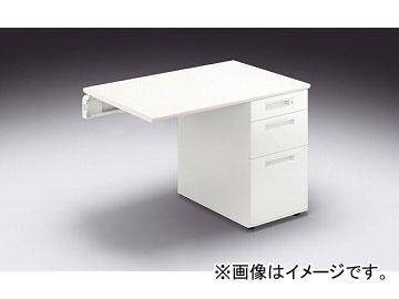 ナイキ/NAIKI リンカー/LINKER カスティーノ 片袖デスク 連結用 Sタイプ ホワイト/クリアーホワイト CND106BJ-WH 1000×650×700mm