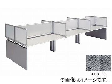 ナイキ/NAIKI リンカー/LINKER ウエイク デスクトップパネル サイド用 グレー WK075PSE-GL 683×30×500mm