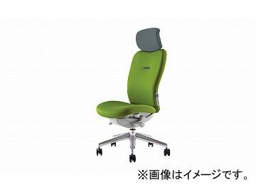ナイキ/NAIKI リンカー/LINKER エネア 事務用チェアー ライトグリーン ZE512F-LGR 615×590×1100~1185mm