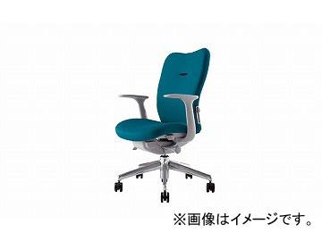 ナイキ/NAIKI リンカー/LINKER エネア 事務用チェアー ターコイズブルー ZE511F-TBL 620×590×900~985mm