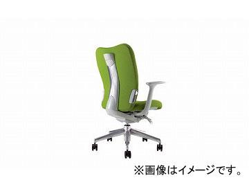 ナイキ/NAIKI リンカー/LINKER エネア 事務用チェアー ライトグリーン ZE511F-LGR 620×590×900~985mm