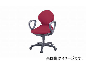 ナイキ/NAIKI 事務用チェアー レッド PE511FP-RE 605×590×815~905mm