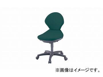 ナイキ/NAIKI 事務用チェアー グリーン PE510FP-GR 570×590×815~905mm