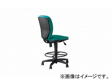 ナイキ/NAIKI 設計者用チェアー 70型リング付 グリーン 701NGS-GR 465×590×870~1060mm