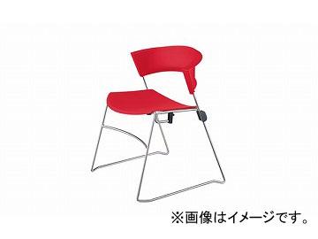 ナイキ/NAIKI ジロフレックス12/giroglex12 輸入チェアー レッド 12-3008-854 585×520×705mm