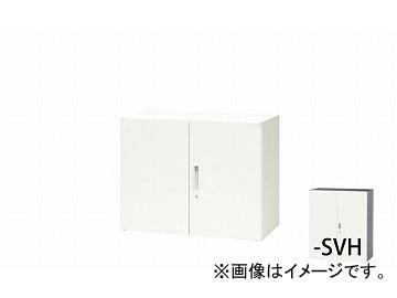 ナイキ/NAIKI リンカー/LINKER 両開き書庫 シルバー/ホワイト CW-0907K-SVH 899×450×700mm