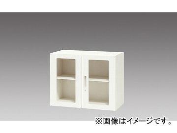ナイキ/NAIKI リンカー/LINKER ガラス両開き書庫 クリアホワイト CWS-0907KG-WW 899×400×700mm