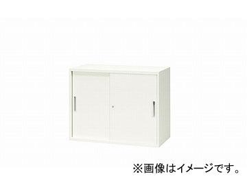 ナイキ/NAIKI リンカー/LINKER スチール引違い書庫 2枚扉 ホワイト CW-0907H-HH 899×450×700mm