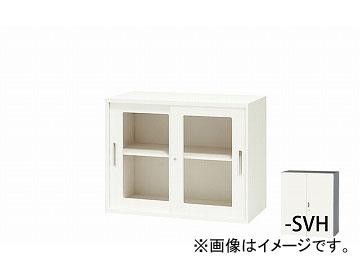 ナイキ/NAIKI リンカー/LINKER ガラス引違い書庫 枠付 シルバー/ホワイト CWS-0907HG-SVH 899×400×700mm