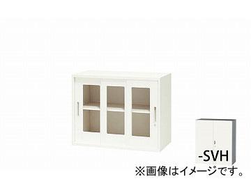 ナイキ/NAIKI リンカー/LINKER ガラス引違い書庫 枠付 シルバー/ホワイト CWS-0907HG3-SVH 899×400×700mm