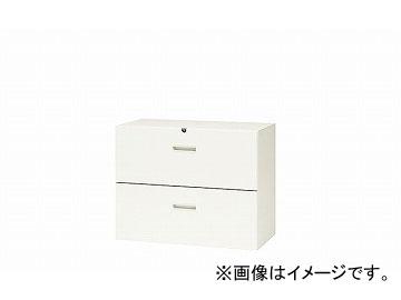 ナイキ/NAIKI リンカー/LINKER ファイル引出し 2段・下置用 ホワイト CWS-0907S-2-HH 899×400×700mm