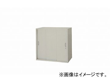 ナイキ/NAIKI ネオス/NEOS スチール引違い書庫 3枚扉 ウォームホワイト NW-0807H3-AW 800×450×700mm