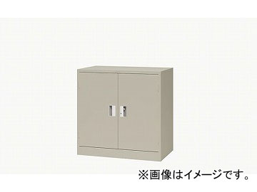 ナイキ/NAIKI 奥深両開き書庫 ニューグレー K337N-NG 880×515×880mm