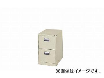 ナイキ/NAIKI ファイリングキャビネット 1列-2段 ライトグレー B4-2-LG 455×620×740mm