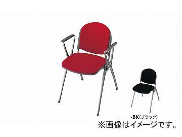 ナイキ/NAIKI 会議用チェアー 4本脚タイプ ブラック E256F-BK 594×567×767mm