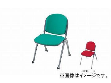 ナイキ/NAIKI 会議用チェアー 4本脚タイプ・キャスター付 レッド E255FC-RE 495×585×767mm