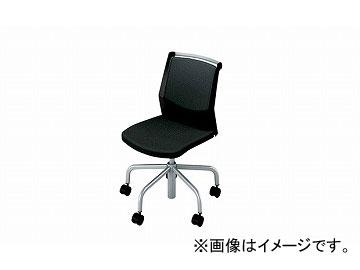 ナイキ/NAIKI 会議用チェアー 5本脚/キャスター付/背パット ブラック E295F-BK 604×636×797~897mm