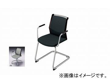 ナイキ/NAIKI 会議用チェアー 肘掛付 キャンチレバー脚/背パッドタイプ グレー E298F-GL 600×590×822mm