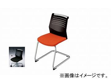 ナイキ/NAIKI 会議用チェアー キャンチレバー脚/背ヌードタイプ ブラック E297-BK 463×590×822mm
