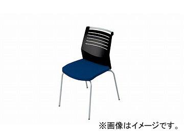 ナイキ/NAIKI 会議用チェアー 4本脚/背ヌード ブルー E290-BL 508×570×822mm