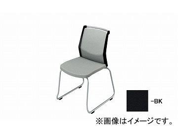 ナイキ/NAIKI 会議用チェアー ループ脚/背パット ブラック E292F-BK 508×561×822mm