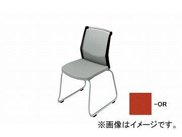 ナイキ/NAIKI 会議用チェアー ループ脚/背パット オレンジ E292F-OR 508×561×822mm