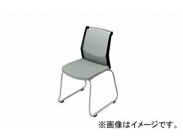 ナイキ/NAIKI 会議用チェアー ループ脚/背パット グレー E292F-GL 508×561×822mm
