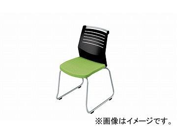 ナイキ/NAIKI 会議用チェアー ループ脚/背ヌード グリーン E292-GR 508×561×822mm